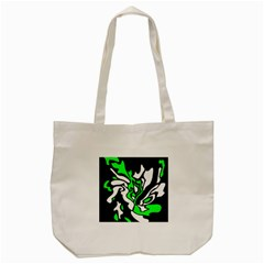 Green, White And Black Decor Tote Bag (cream) by Valentinaart