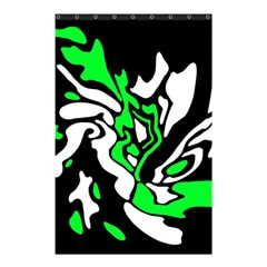Green, White And Black Decor Shower Curtain 48  X 72  (small)  by Valentinaart