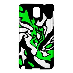 Green, White And Black Decor Samsung Galaxy Note 3 N9005 Hardshell Case by Valentinaart