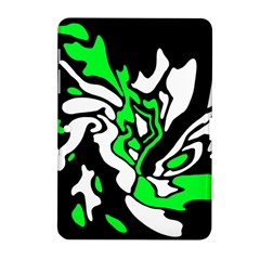 Green, White And Black Decor Samsung Galaxy Tab 2 (10 1 ) P5100 Hardshell Case  by Valentinaart