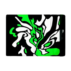 Green, White And Black Decor Ipad Mini 2 Flip Cases by Valentinaart