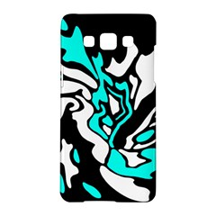 Cyan, Black And White Decor Samsung Galaxy A5 Hardshell Case