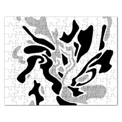 Gray, Black And White Decor Rectangular Jigsaw Puzzl by Valentinaart