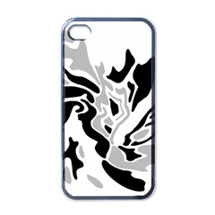 Gray, Black And White Decor Apple Iphone 4 Case (black) by Valentinaart