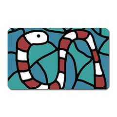 Red Snake Magnet (rectangular) by Valentinaart