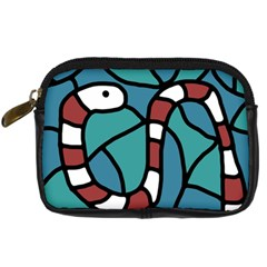 Red Snake Digital Camera Cases by Valentinaart