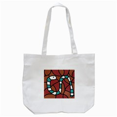 Blue Snake Tote Bag (white) by Valentinaart