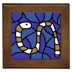 Green Snake Framed Tiles