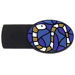 Green Snake Usb Flash Drive Oval (2 Gb)