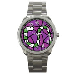Green Snake Sport Metal Watch by Valentinaart