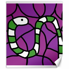 Green Snake Canvas 20  X 24   by Valentinaart