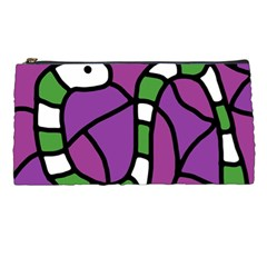 Green Snake Pencil Cases by Valentinaart