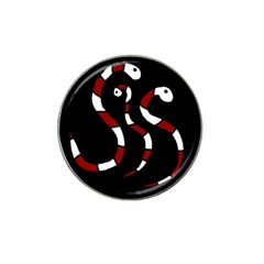 Red Snakes Hat Clip Ball Marker (4 Pack) by Valentinaart