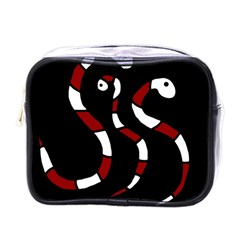 Red Snakes Mini Toiletries Bags by Valentinaart