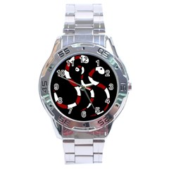 Red Snakes Stainless Steel Analogue Watch by Valentinaart