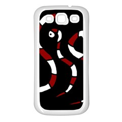 Red Snakes Samsung Galaxy S3 Back Case (white) by Valentinaart