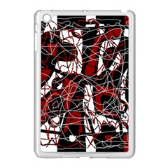 Red Black And White Abstract High Art Apple Ipad Mini Case (white) by Valentinaart