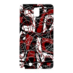 Red Black And White Abstract High Art Samsung Galaxy Note 3 N9005 Hardshell Back Case by Valentinaart