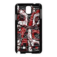 Red Black And White Abstract High Art Samsung Galaxy Note 3 Neo Hardshell Case (black)