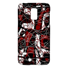 Red Black And White Abstract High Art Galaxy S5 Mini by Valentinaart