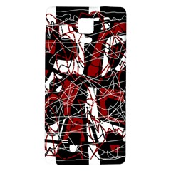 Red Black And White Abstract High Art Galaxy Note 4 Back Case by Valentinaart