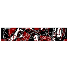 Red Black And White Abstract High Art Flano Scarf (small)