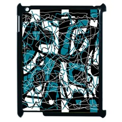 Blue, Black And White Abstract Art Apple Ipad 2 Case (black)