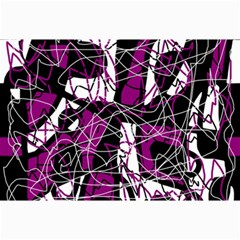 Purple, White, Black Abstract Art Collage Prints by Valentinaart