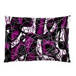 Purple, white, black abstract art Pillow Case (Two Sides) Back
