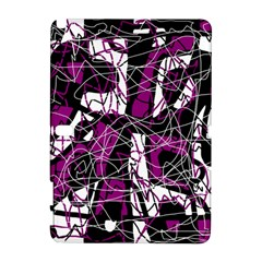 Purple, White, Black Abstract Art Samsung Galaxy Note 10 1 (p600) Hardshell Case by Valentinaart