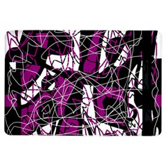 Purple, White, Black Abstract Art Ipad Air Flip by Valentinaart