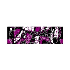 Purple, White, Black Abstract Art Satin Scarf (oblong) by Valentinaart