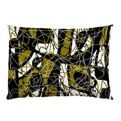 Brown Abstract Art Pillow Case by Valentinaart