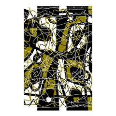 Brown Abstract Art Shower Curtain 48  X 72  (small)  by Valentinaart