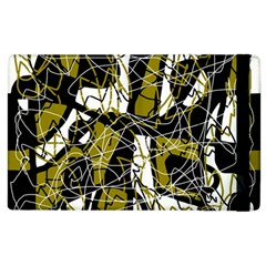 Brown Abstract Art Apple Ipad 3/4 Flip Case by Valentinaart