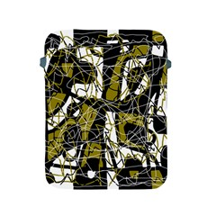 Brown Abstract Art Apple Ipad 2/3/4 Protective Soft Cases by Valentinaart