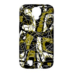 Brown Abstract Art Samsung Galaxy S4 Classic Hardshell Case (pc+silicone) by Valentinaart