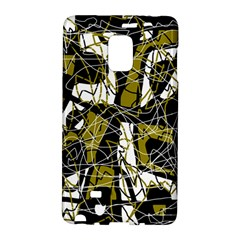 Brown Abstract Art Galaxy Note Edge by Valentinaart