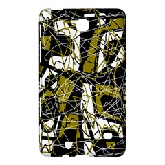Brown Abstract Art Samsung Galaxy Tab 4 (7 ) Hardshell Case  by Valentinaart