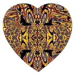 Digital Space Jigsaw Puzzle (heart) by MRTACPANS