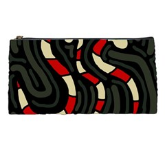 Red Snakes Pencil Cases by Valentinaart