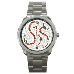 Snakes Family Sport Metal Watch by Valentinaart