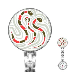Snakes Family Stainless Steel Nurses Watch by Valentinaart