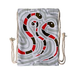 Snakes Family Drawstring Bag (small) by Valentinaart