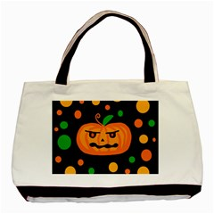 Halloween Pumpkin Basic Tote Bag (two Sides) by Valentinaart