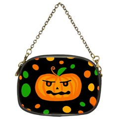 Halloween Pumpkin Chain Purses (two Sides)  by Valentinaart