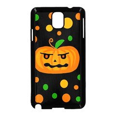 Halloween Pumpkin Samsung Galaxy Note 3 Neo Hardshell Case (black) by Valentinaart