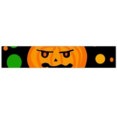 Halloween Pumpkin Flano Scarf (large) by Valentinaart