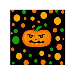 Halloween Pumpkin Small Satin Scarf (square) by Valentinaart
