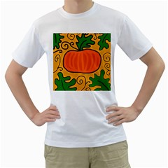 Thanksgiving Pumpkin Men s T-shirt (white) (two Sided) by Valentinaart